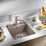 Раковины из камня для кухни: всё о керамогранитных мойках