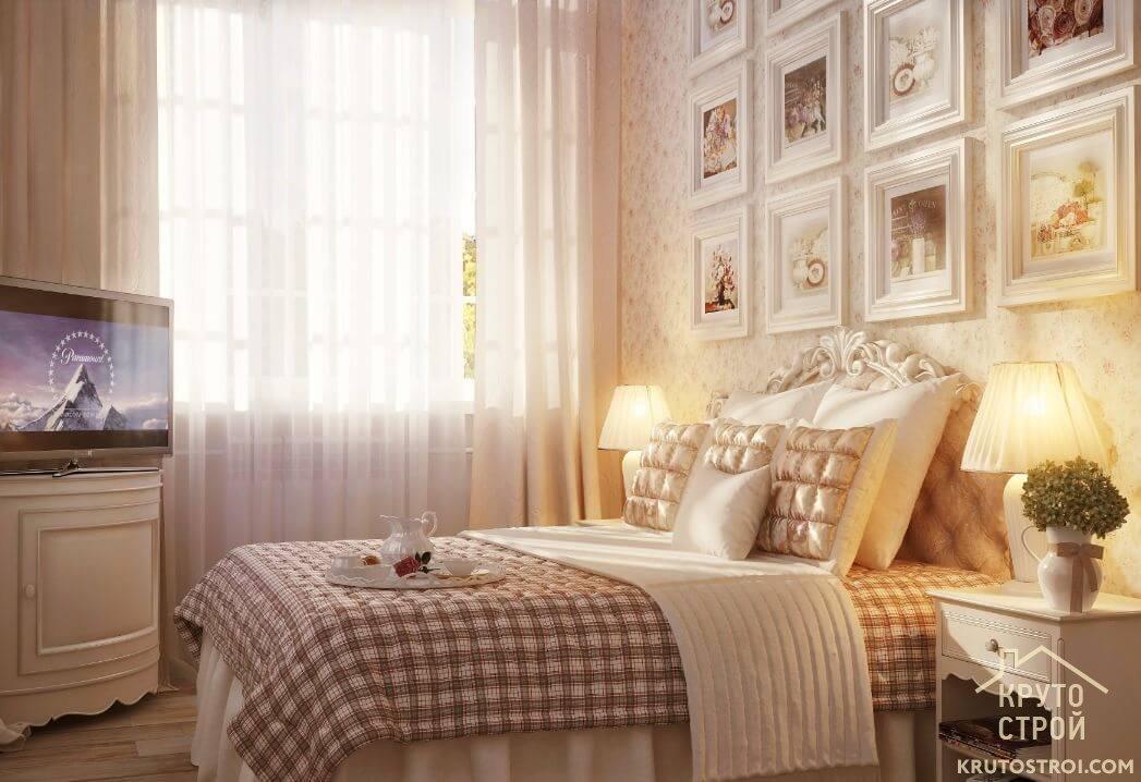 Спальни прованс дизайн фото