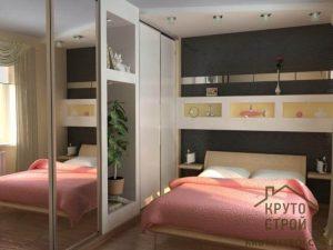 Шкафы в маленькую спальню: дизайн встроенных и угловых, шкафов-купе и распашных