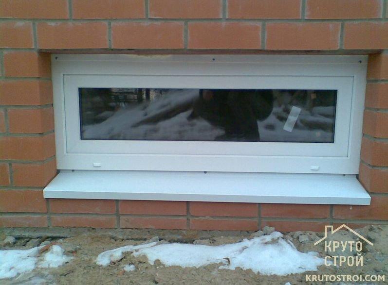 Как сделать приямок для окна