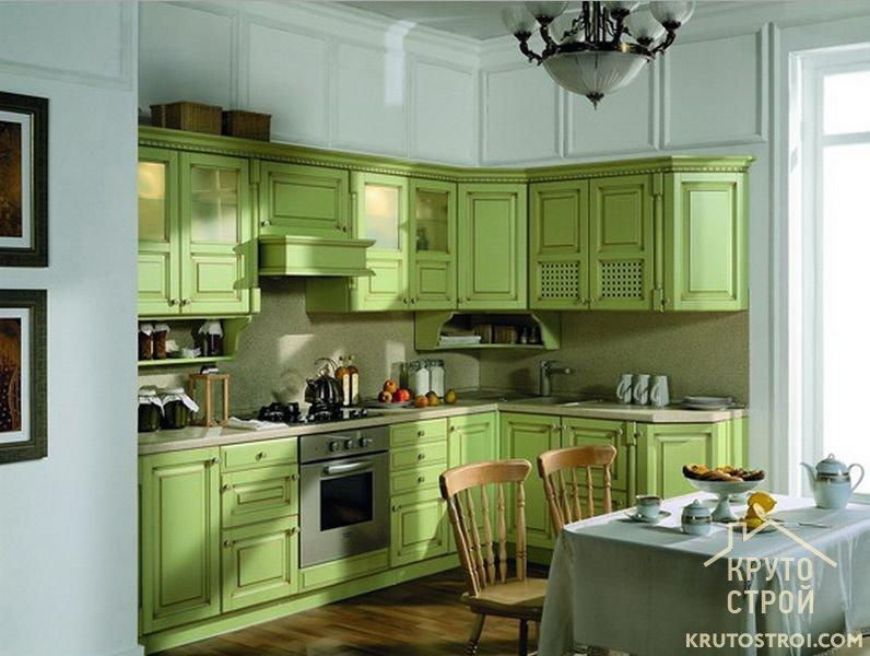 Кухни нежно-зеленого цвета