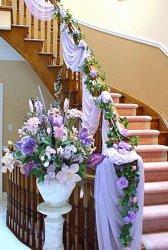 Украшение дома на свадьбу цветами