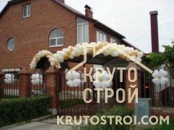 Украшение дома на свадьбу воздушными шариками